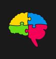 Puzzle pieces silhouette brain jigsaw puzzle brain