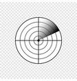 radar screen icon vector image vector image