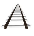 railway railroad track silhouettes vector image vector image