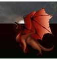 red dragon against the gray sky vector image
