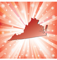 Red Virginia vector image vector image