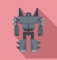 robot transformer icon flat style vector image vector image