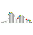 roller coaster isolated icon vector image vector image