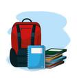 school supplies cartoon vector image vector image