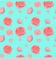 seamless background template with pink roses vector image vector image
