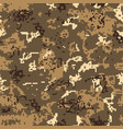 seamless desert camouflage of pixel pattern vector image vector image