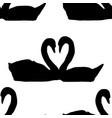 seamless pattern couple of geese making heart vector image vector image