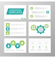 set green and turquoise template vector image