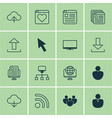 set of 16 world wide web icons includes website vector image vector image