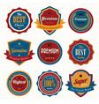 set retro vintage badges and labels vector image vector image