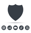 shield protection icon defense equipment sign vector image vector image