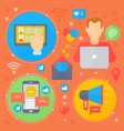 social network and media flat concept vector image