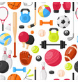 sport equipment seamless pattern vector image