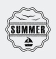 summer relax flat vector image vector image