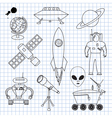 The images on the theme of outer space vector image vector image