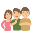 three young teenage laugh and happy vector image vector image