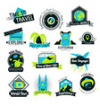 time to travel hand drawn logos vector image vector image
