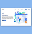 Web development landing page