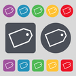 Web stickers icon sign A set of 12 colored buttons vector image vector image