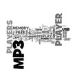 what to look for in a mp player text word cloud vector image vector image