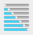 white and blue slider bar settings on control vector image vector image