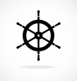 Yacht wheel symbol Helm silhouette vector image vector image