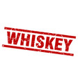 square grunge red whiskey stamp vector image