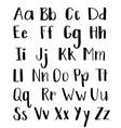 calligraphy hand-written fonts handwritten brush vector image