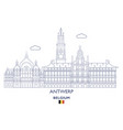 antwerp city skyline vector image