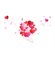 background valentines day or birthday card red vector image vector image