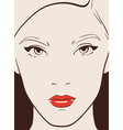 beautiful woman vector image vector image