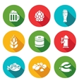 Beer and appetizer Icons Set vector image vector image