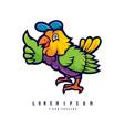 bird cartoon logo vector image