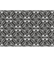 Black-and-white seamless gothic pattern vector image vector image