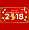 chinese new year with dog zodiac banner design vector image