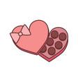 chocolate box valentine gift graphic vector image