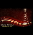 christmas and happy new year card with unusual vector image