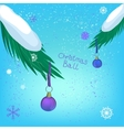 Christmas ball branch vector image