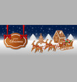 christmas banner with gingerbreads vector image vector image