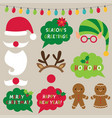 christmas decoration and photo booth props vector image vector image