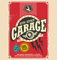 classic garage retro poster design vector image