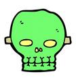 comic cartoon spooky skull mask vector image