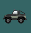 compact offroad suv car side view vehicle concept vector image vector image