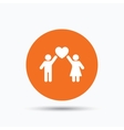 Couple love icon Traditional young family sign vector image vector image