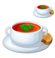 cream soup icon isolated on white background vector image vector image