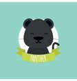 Cute Cartoon Panther vector image