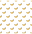 Cute yellow hand drawn banana seamless pattern vector image vector image