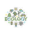 digital yellow blue ecology vector image vector image