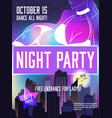 disco party advertising poster vector image vector image
