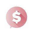 Dollar sign - flat design vector image